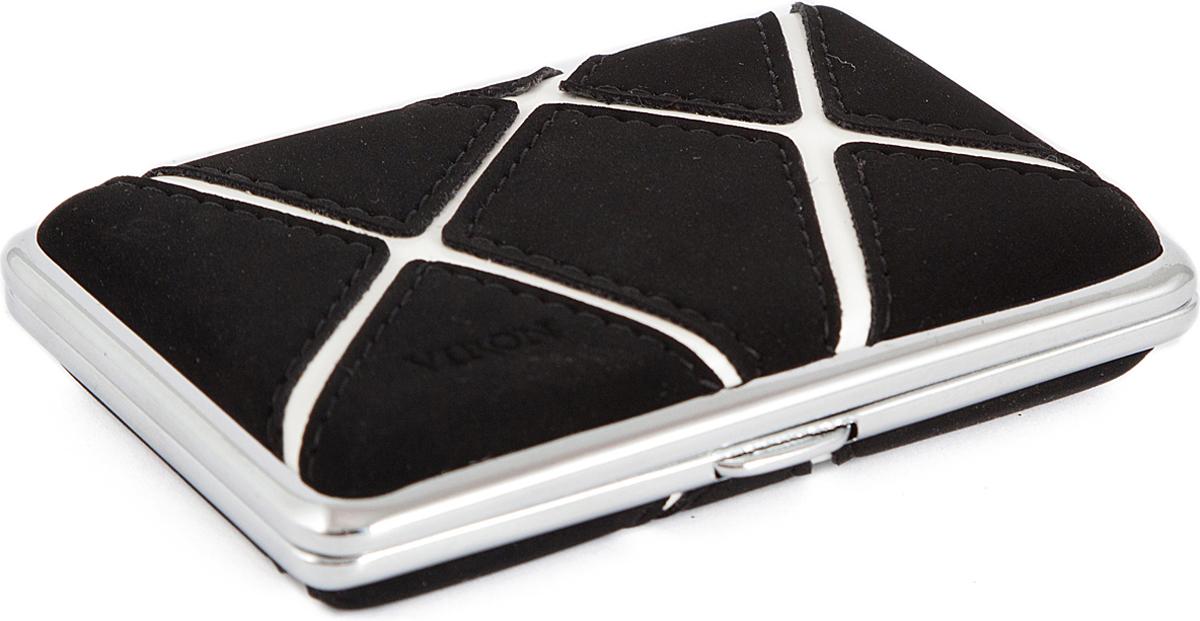 Портсигар Viron, цвет: черный, 10 х 7 х 2 см. 45607 наборы сомелье viron подарочный набор сомелье viron