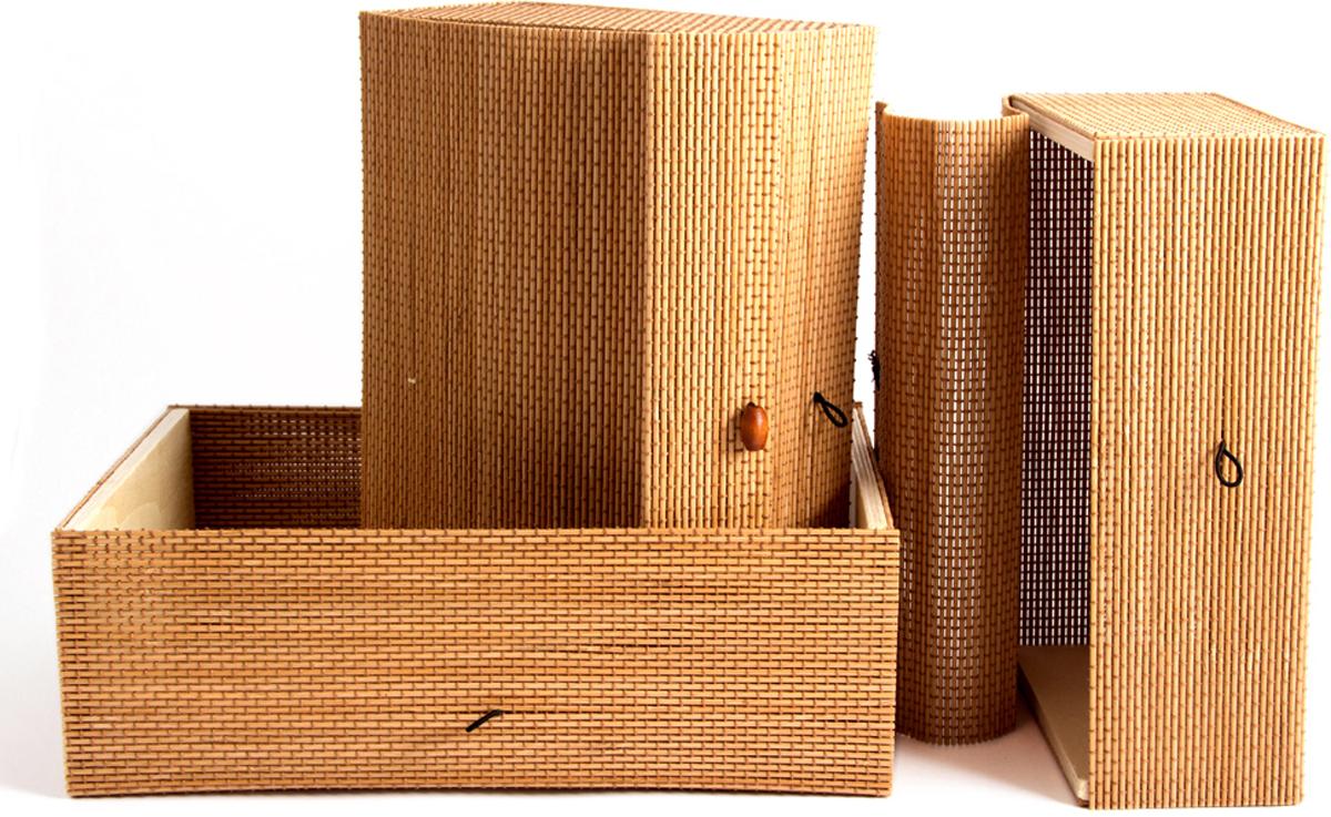 Набор шкатулок для хранения, цвет: коричневый, 30 х 21 х 11 см, 3 шт81207Шкатулка для ювелирных украшений является предметом женского обихода, предназначена не только для хранения драгоценностей и ювелирных украшений, но являются частью интерьера. Прекрасно подойдет в качестве подарка на любой праздник.