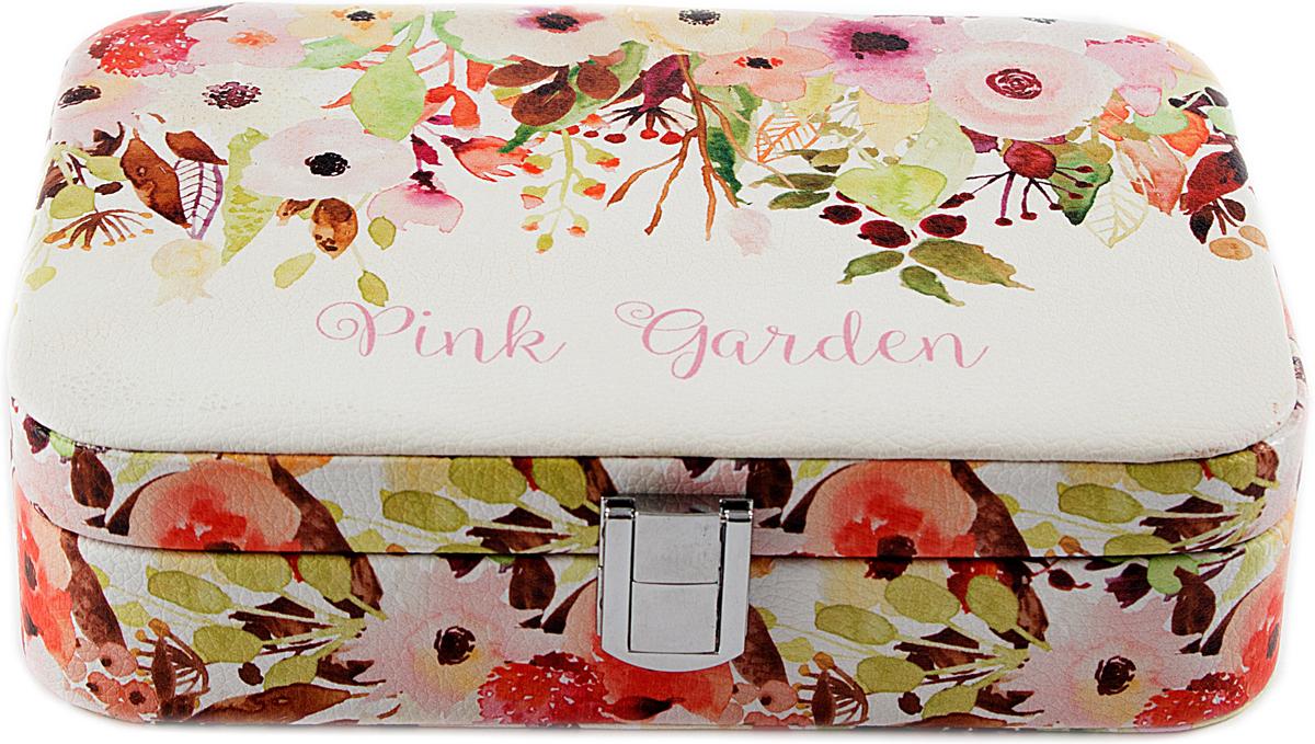 Шкатулка для украшений, цвет: розовый, 21 х 15 х 6 см. 84568 шкатулка для ювелирных украшений moretto 18 х 13 х 5 см 139530