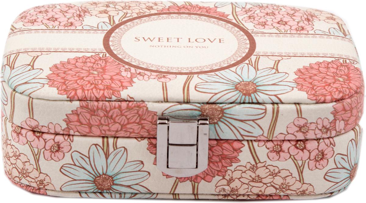 Шкатулка для украшений, цвет: розовый, 15 х 11 х 5 см. 8457284572Шкатулка для ювелирных украшений является предметом женского обихода, предназначена не только для хранения драгоценностей и ювелирных украшений, но являются частью интерьера. Прекрасно подойдет в качестве подарка на любой праздник.