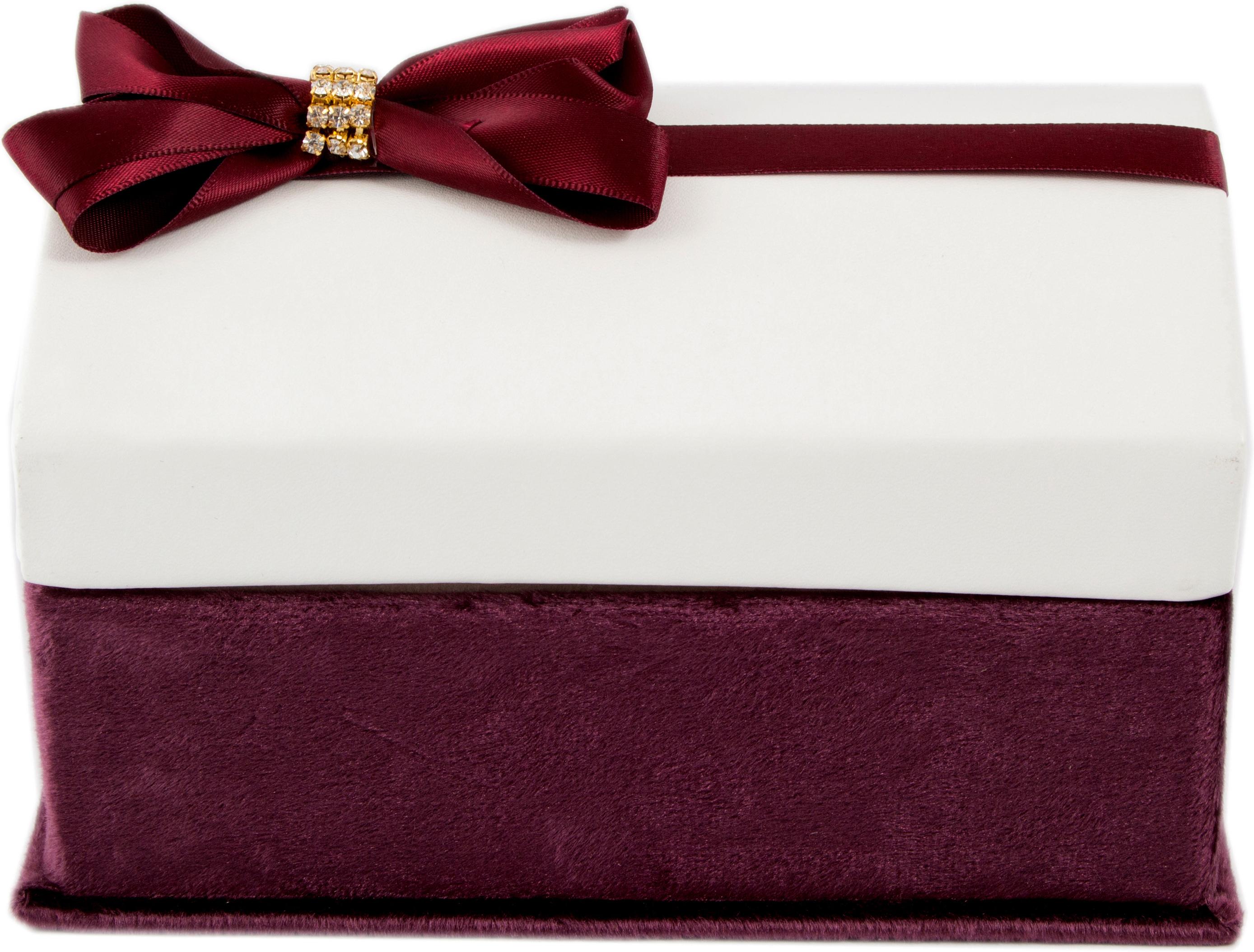 Шкатулка для украшений, цвет: бордовый, 17 х 13 х 11 см. 84573 шкатулка для ювелирных украшений moretto 18 х 13 х 5 см 139530