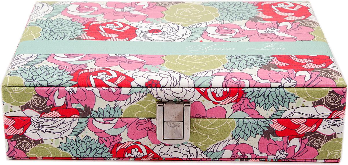 Шкатулка для украшений, цвет: розовый, 24 х 17 х 6 см. 84576 шкатулка для ювелирных украшений moretto 18 х 13 х 5 см 139530