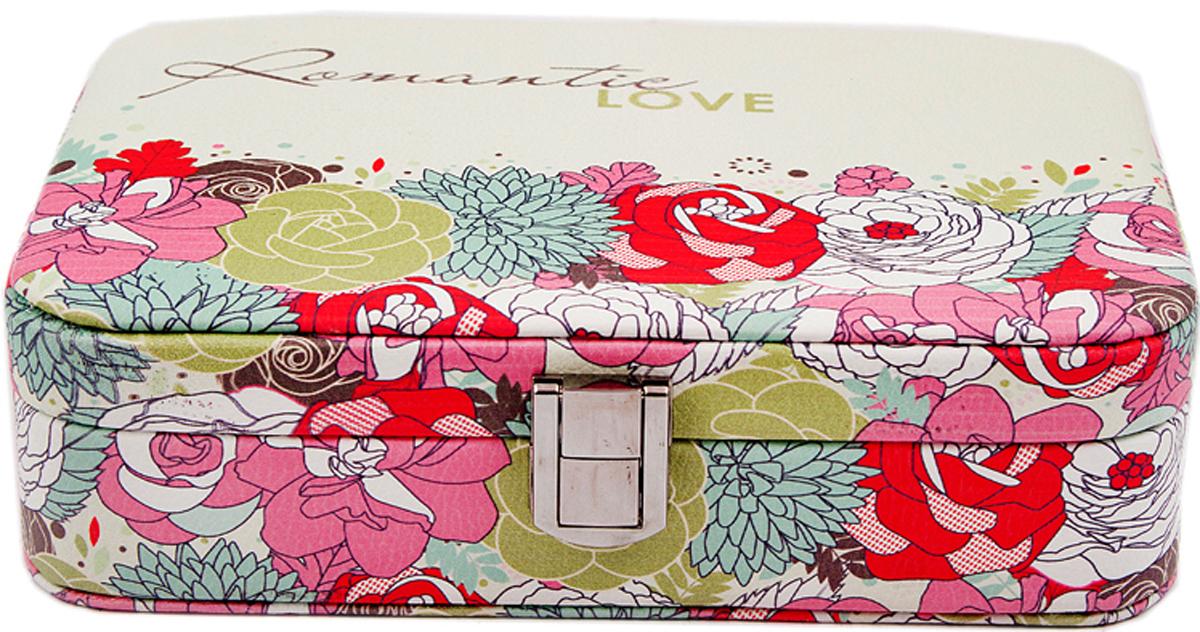 Шкатулка для украшений, цвет: розовый, 21 х 15 х 6 см. 8457884578Шкатулка для ювелирных украшений является предметом женского обихода, предназначена не только для хранения драгоценностей и ювелирных украшений, но являются частью интерьера.Прекрасно подойдет в качестве подарка на любой праздник.