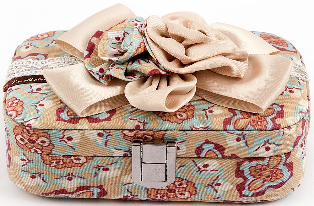 Шкатулка для украшений, цвет: розовый, 15 х 11 х 5 см. 84588 шкатулка для ювелирных украшений moretto 18 х 13 х 5 см 139530