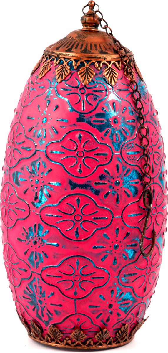 Подсвечник-фонарь Маракеш, подвесной, цвет: розовый, 12 х 24 см86038Подсвечник прежде всего выполняет функцию освещения, является предметом интерьера, а также украшает романтический вечер или праздничный стол.