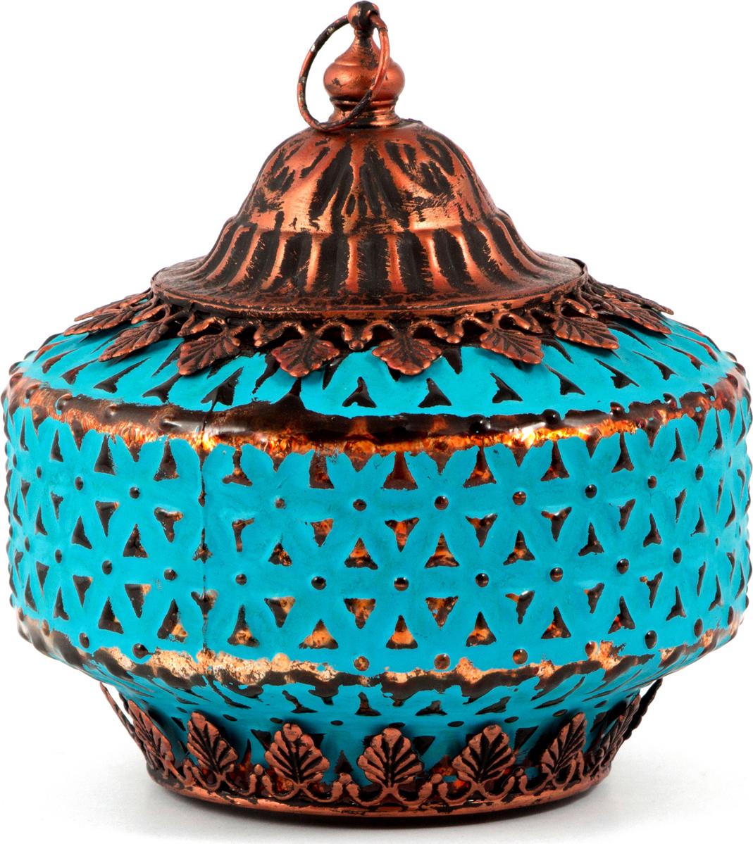 Подсвечник-фонарь Маракеш, цвет: голубой, 13 х 14 см86039Подсвечник прежде всего выполняет функцию освещения, является предметом интерьера, а также украшает романтический вечер или праздничный стол.
