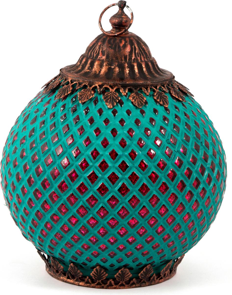 Подсвечник-фонарь Маракеш, цвет: голубой, 16 х 19 см. 8604086040Подсвечник прежде всего выполняет функцию освещения, является предметом интерьера, а также украшает романтический вечер или праздничный стол.