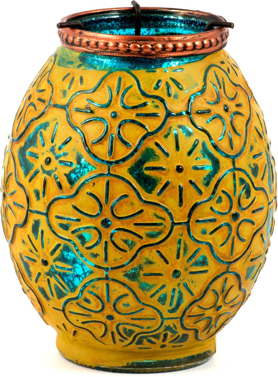 Подсвечник Маракеш, цвет: желтый, 10 х 13 см86044Подсвечник прежде всего выполняет функцию освещения, является предметом интерьера, а также украшает романтический вечер или праздничный стол.