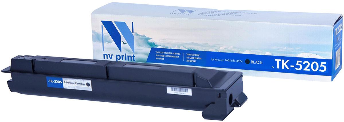 NV Print TK5205, Black тонер-картридж для Kyocera TASKalfa 356ciNV-TK5205BkСовместимый лазерный картридж NV Print TK5205 для печатающих устройств Kyocera - это альтернативаприобретению оригинальных расходных материалов. При этом качество печати остается высоким. Картриджобеспечивает повышенную чёткость текста и плавность переходов оттенков цвета и полутонов,позволяет отображать мельчайшие детали изображения.Лазерные принтеры, копировальные аппараты и МФУ являются более выгодными в печати, чем струйныеустройства, так как лазерных картриджей хватает на значительно большее количество отпечатков, чем обычных.Для печати в данном случае используются не чернила, а тонер.