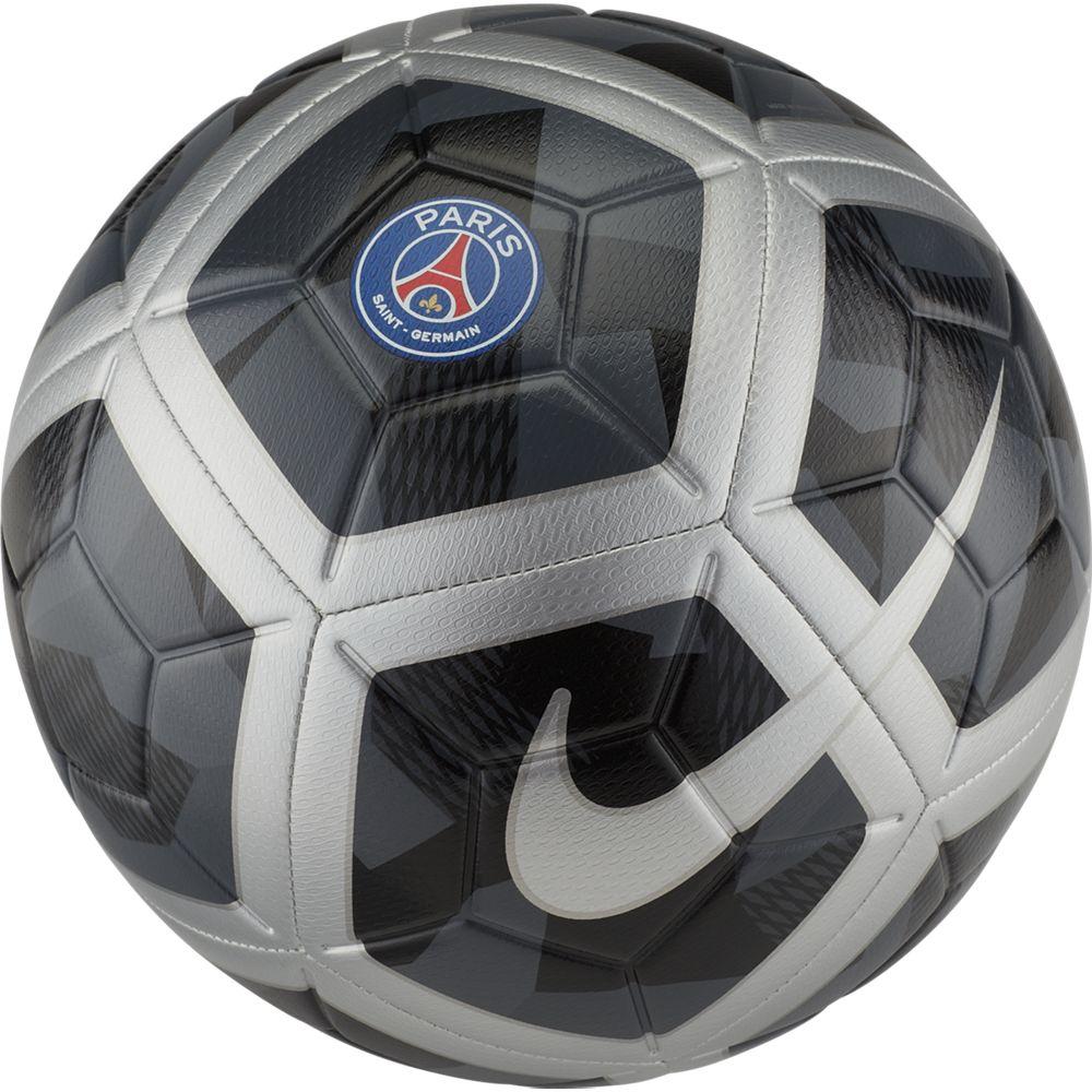 Мяч футбольный Nike Unisex Paris Saint-Germain Strike Football. Размер 5SC3281-010Unisex Paris Saint-Germain Strike Football ФУТБОЛ КАЖДЫЙ ДЕНЬ С ИДЕАЛЬНОЙ ЭКИПИРОВКОЙ.Футбольный мяч унисекс Paris Saint-Germain Strike идеально подходит для ежедневных игр. Благодаря графике Visual Power его легко отслеживать на поле, а укрепленная резиновая камера обеспечивает упругость и сохранение формы. С графикой Visual Power ты увидишь мяч быстрее и отреагируешь вовремя.Текстурированное покрытие для превосходного касания. Желобки Nike Aerotrac для точной траектории полета мяча.Конструкция из 12 панелей для точной траектории полета.