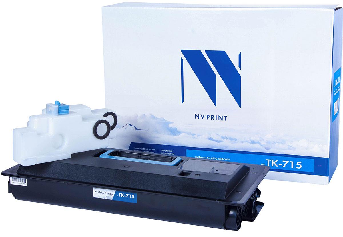 NV Print TK-715, Black тонер-картридж для Kyocera KM-3050/4050/5050NV-TK715Совместимый лазерный картридж NV Print TK-715 для печатающих устройств Kyocera - это альтернативаприобретению оригинальных расходных материалов. При этом качество печати остается высоким. Картриджобеспечивает повышенную чёткость текста и плавность переходов оттенков цвета и полутонов,позволяет отображать мельчайшие детали изображения.Лазерные принтеры, копировальные аппараты и МФУ являются более выгодными в печати, чем струйныеустройства, так как лазерных картриджей хватает на значительно большее количество отпечатков, чем обычных.Для печати в данном случае используются не чернила, а тонер.