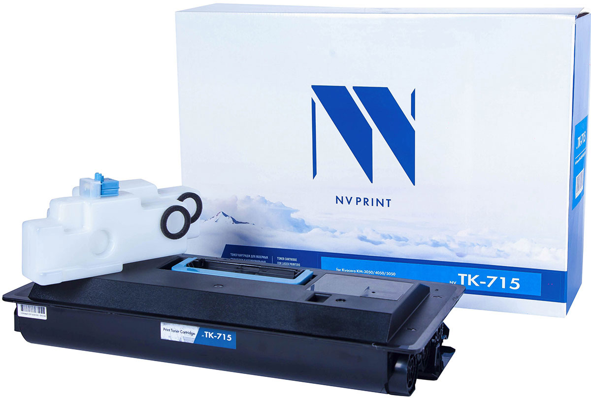 NV Print TK-715, Black тонер-картридж для Kyocera KM-3050/4050/5050 картридж для принтера nv print для hp cf403x magenta