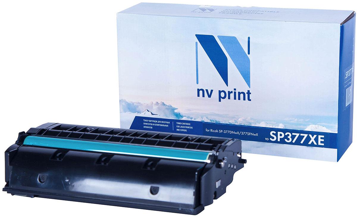 NV Print SP377XE, тонер-картридж для Ricoh SP-377DNwX/377SFNwXNV-SP377XEСовместимый лазерный картридж NV Print SP377XE для печатающих устройств Ricoh - это альтернативаприобретению оригинальных расходных материалов. При этом качество печати остается высоким. Картриджобеспечивает повышенную чёткость текста и плавность переходов оттенков цвета и полутонов,позволяет отображать мельчайшие детали изображения.Лазерные принтеры, копировальные аппараты и МФУ являются более выгодными в печати, чем струйныеустройства, так как лазерных картриджей хватает на значительно большее количество отпечатков, чем обычных.Для печати в данном случае используются не чернила, а тонер.