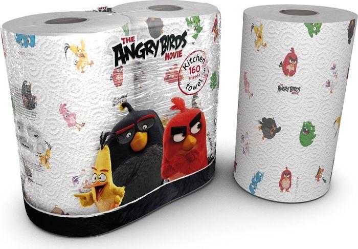 Полотенца бумажные World Cart Angry Birds, двухслойные, 2 рулонаABKT1Полотенца кухонные из серии Angry Birds с рисунком, 2-х слойные. В упаковке 2 рулона. Каждый рулон по 75 листов. Длина рулона 17,3 м. Размер листа 23х22,8 см. 100% целлюлоза.