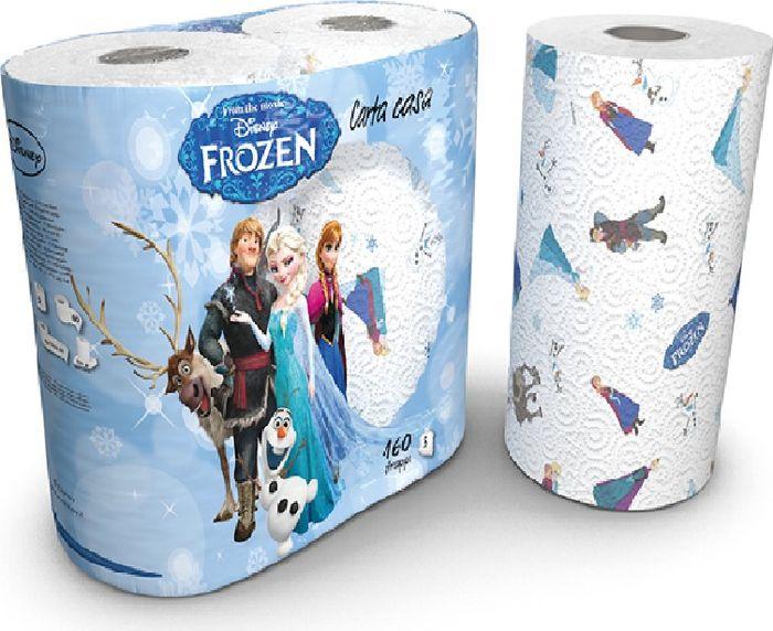 Полотенца бумажные World Cart Холодное Сердце, трехслойные, 2 рулонаFZKT1Полотенца кухонные Frozen 3-х слойные с рисунком, 2 рулона, 80 листов, 23х22,8 см, 18,4 м. 100% целлюлоза (м/ф Холодное Сердце)