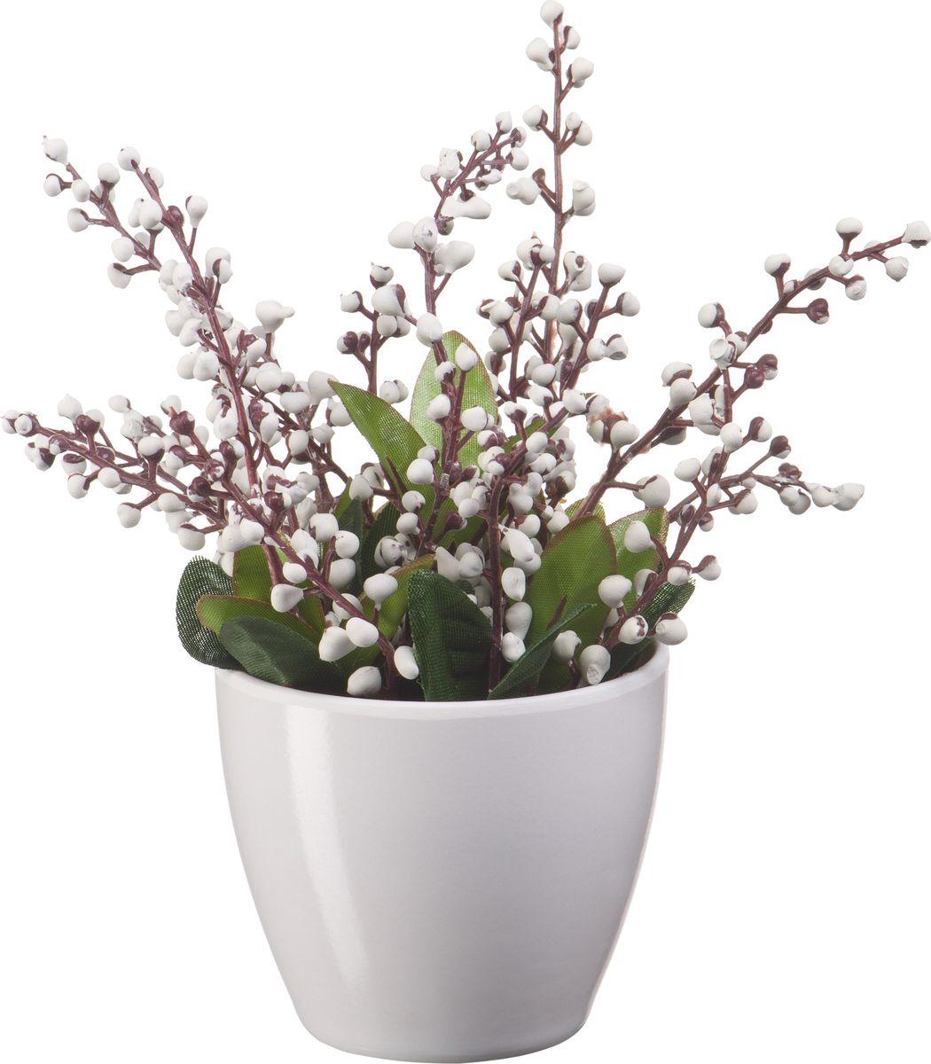 Композиция цветочная Engard Ландыш, в кашпо, цвет: белый, 18 х 18 х 19 смB39белИскусственные цветы Engard - это популярное дизайнерское решение для создания природного колорита и гармонии в пространстве. Искусственный ландыш в керамическом кашпо высотой 19 см выполнен аккуратно и довольно реалистично.
