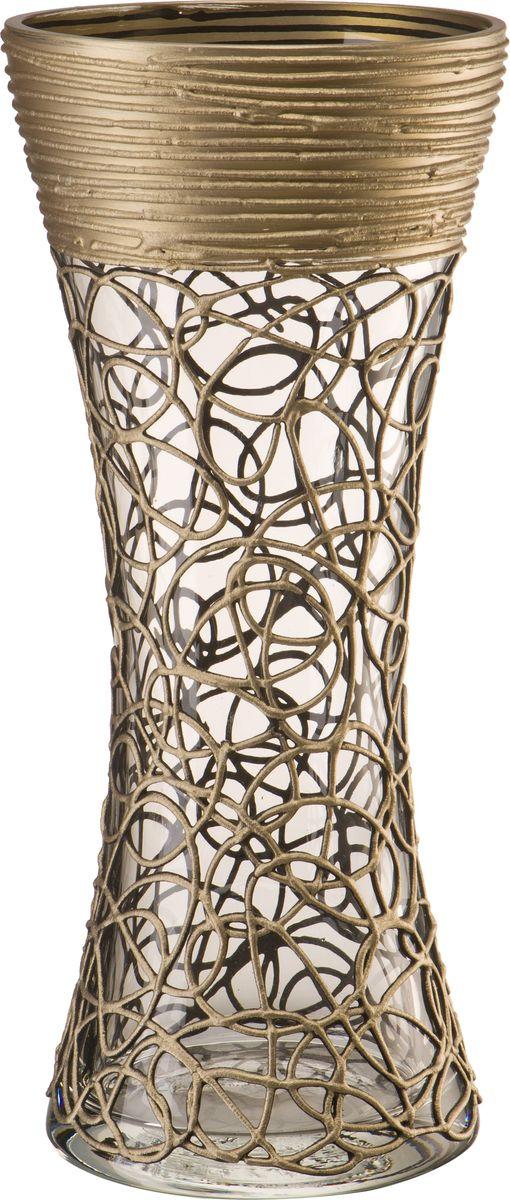 В современном мире ваза является неотъемлемым предметом украшения и декора интерьера создавая уют и гармонию в пространстве. Стеклянная ваза высотой 28 см, украшенная золотым кружевным узором станет не только оригинальным штрихом декора, но отличным сосудом для цветов.