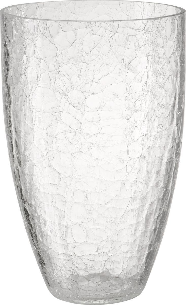 """В современном мире ваза является неотъемлемым предметом украшения и декора интерьера создавая уют и гармонию в пространстве. Стеклянная ваза Engard """"Бочка"""" высотой 25 см, выполненная в уникальной технике кракле. Кракле - узор из тонких трещинок на глазурованной поверхности.  Ваза привлекает к себе взгляд за счет преломления света в микротрещинках. Изделие станет не только оригинальным элементом декора, но прекрасно справится со своим прагматичным назначением – станет отличным сосудом для цветочного букета."""