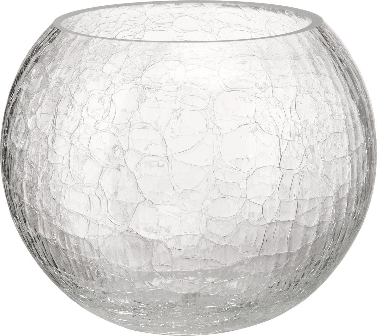В современном мире ваза является неотъемлемым предметом украшения и декора интерьера создавая уют и гармонию в пространстве. Стеклянная ваза в форме шара высотой 16 см, выполненная в уникальной технике кракле. Кракле - узор из тонких трещинок на глазурованной поверхности. Ваза притягивает к себе взгляд за счет преломления света в микротрещинках. Изделие станет не только оригинальным элементом декора, но прекрасно справится со своим прагматичным назначением - станет отличным сосудом для цветочного букета.