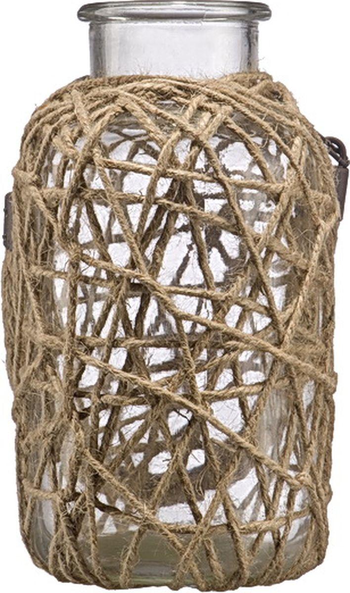 """Бутыль декоративная """"Engard"""" - это многофункциональная вещь, которая подойдёт для украшения интерьера или емкость для различных наполнений (сухоцветы, свечи, ракушки, цветы, камни, декоративный песок).  Декоративное оформление пеньковой веревкой смотрится очень стильно и красиво. Идеальный вариант для интерьера в стиле прованс."""