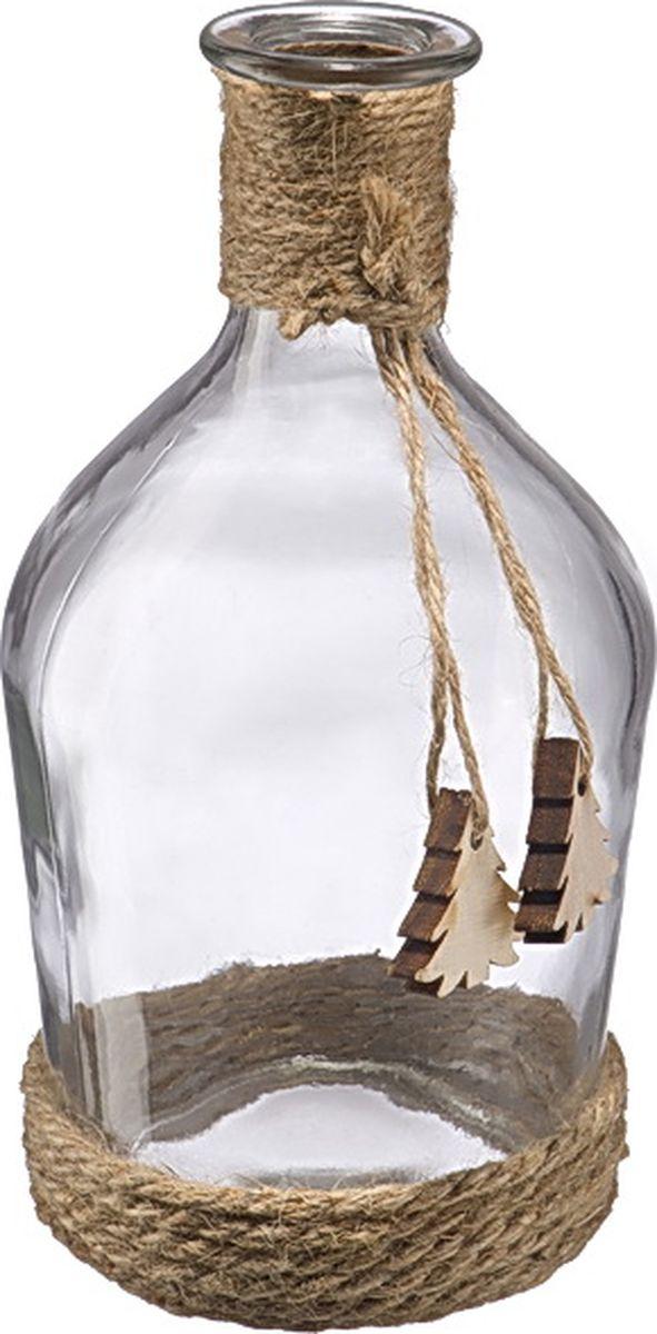 Бутыль декоративная Engard, 24 смZX15A-1137Бутыль из стекла для декора. Многофункциональная вещь, которая подойдёт для украшения интерьера или емкость для различных наполнений (сухоцветы, свечи, ракушки, цветы, камни, декоративный песок).