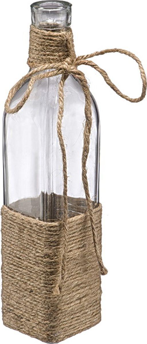 Бутыль декоративная Engard, высота 26 смZX15A-1151Бутыль декоративная Engard - это многофункциональная вещь, которая подойдёт для украшения интерьера или емкость для различных наполнений (сухоцветы, свечи, ракушки, цветы, камни, декоративный песок).Декоративное оформление пеньковой веревкой смотрится очень стильно и красиво. Идеальный вариант для интерьера в стиле прованс.