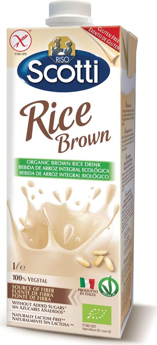 Riso Scotti Рисовый напиток цельнозерновой, 1 лJ310TP1Приятный на вкус напиток из органического бурого риса, идеально подходит для здорового питания. Понравится и взрослым, и детям. Его можно просто пить в любое время в течение дня или использовать для приготовления блюд, коктейлей, десертов.Такое молоко – один из лучших натуральных источников клетчатки, антиоксидантов, витаминов группы В и кальция. Прекрасная альтернатива коровьему молоку.Основная польза этого напитка заключается в том, он делается из нешлифованного бурого живого риса, который пригоден для проращивания. Именно во внешней оболочке риса и содержится львиная доля витаминов, минералов и пищевых волокон (клетчатки), необходимых для нормального пищеварения.Преимущества:100% растительного происхождения – веганский, постный продукт;Без глютена;0% лактозы;Содержит минимум жиров;Без добавления сахара;Органические ингредиенты.