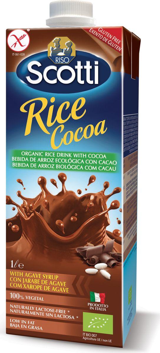 где купить Riso Scotti Рисовый напиток с какао, 1 л дешево