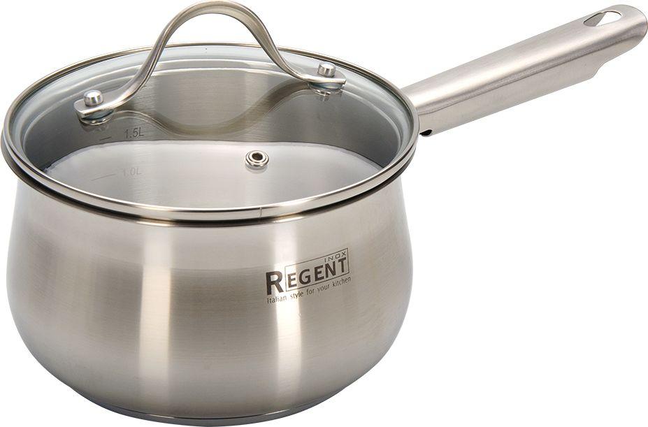 Ковш Regent Inox Ameli с крышкой, 2,1 л ковш с крышкой regent pasta