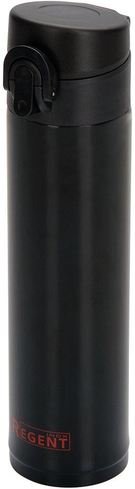 Термос Regent Inox Fitness, цвет: черный, 360 мл93-TE-FI-2-360BТермос 0,36л - это современная технология теплоизоляции, вакум между стенками обеспечивает надежное сохранение температуры содержимого. Металлическая колба, по сравнению со стеклянной не боится падений, поэтому надежна и долговечна в эксплуатации. возможно хранить, как горячие, так и холодные напитки.