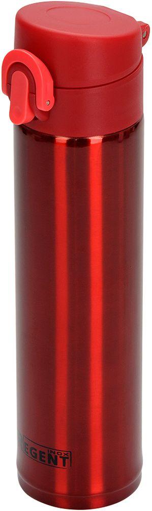 Термос Regent Inox Fitness, цвет: красный, 360 мл93-TE-FI-2-360RТермос с узким горлом Regent Inox Fitness - это современная технология теплоизоляции, вакуум между стенкамиобеспечивает надежное сохранение температуры содержимого. Металлическая колба, посравнению со стеклянной не боится падений, поэтому надежна и долговечна в эксплуатации.Сохраняет температуру как горячих, так и холодных напитков.