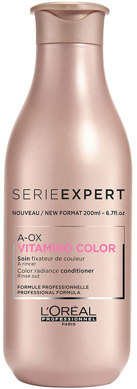 LOreal Professionnel Expert Vitamino Color AOX Conditioner Смываемый уход-фиксатор цвета, 200 млE2200Формула двойного действия ухода фиксирует цвет и придает блеск окрашенным волосам. Облегчает расчесывание, делает волосы более мягкими, блестящими и сияющими. Новая формула обогащена УФ-фильтрами, токоферолом, пантенолом и неогесперцдином, которые защищают материю волоса и сохраняют насыщенность оттенка. Объем: 200 мл