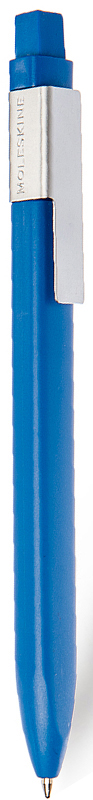 Moleskine Ручка шариковая Classic Click цвет корпуса темно-синий цвет чернил черный1004459Идеально сочетается с блокнотом Moleskine, специально предназначена для крепления на стороне классической черной обложки. Характеристики: черные чернила; стержень с шариковым наконечником; заменяемые стержни; втягивающийся пишущий узел; матовая пластиковая поверхность; серая клипса из нержавеющей стали (запатентованная конструкция) с выгравированным логотипом; 16 стикеров, с помощью которых вы сможете сделать свою ручку особенной