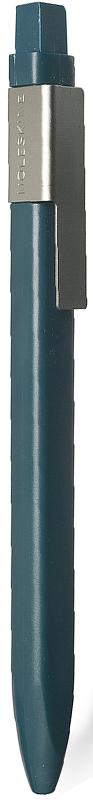 Moleskine Ручка шариковая Classic Click цвет корпуса темно-зеленый цвет чернил черный1004464Идеально сочетается с блокнотом Moleskine, специально предназначена для крепления на стороне классической черной обложки. Характеристики: черные чернила; стержень с шариковым наконечником; заменяемые стержни; втягивающийся пишущий узел; матовая пластиковая поверхность; серая клипса из нержавеющей стали (запатентованная конструкция) с выгравированным логотипом; 16 стикеров, с помощью которых вы сможете сделать свою ручку особенной
