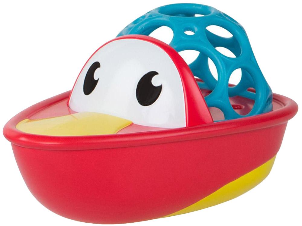 Oball Игрушка для ванной Лодочка цвет красный игрушки для ванной oball игрушка для ванны уточка желтая