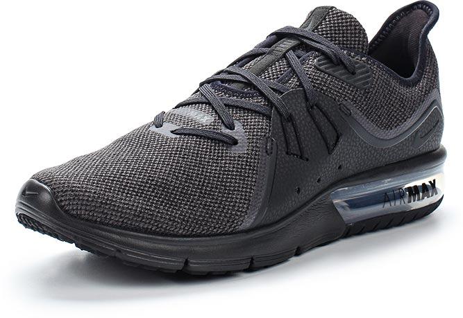 Кроссовки для бега мужские Nike Air Max Sequent 3, цвет: черный. 921694-010. Размер 9,5 (42)921694-010Мужские беговые кроссовки Nike Air Max Sequent 3 отличает дизайн в духе оригинальных Air Max. Модель обеспечивает упругую амортизацию и плавность движений. Вставка Max Air U-образной формы гарантирует адаптивную амортизацию. Нити Flywire обеспечивают надежную фиксацию. Эластичный трикотаж верха тянется во всех направлениях, повторяя движения стопы. Он совмещен с неполной внутренней частью для надежной посадки. Подошва из инжектированного материала Phylon (IP) гарантирует легкость, амортизацию и комфорт. Анатомическая конструкция передней части и глубокие эластичные желобки обеспечивают потрясающую плавность и свободу движений. Вставки из твердой резины под носком и пяткой повышают прочность в местах максимального износа. Колодка: MR-12.