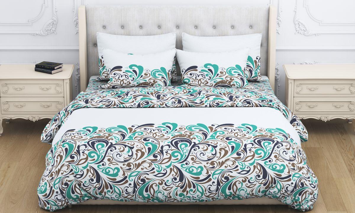 Комплект белья Amore Mio Fantasy, 1,5-спальный, наволочки 70x70, цвет: зеленый