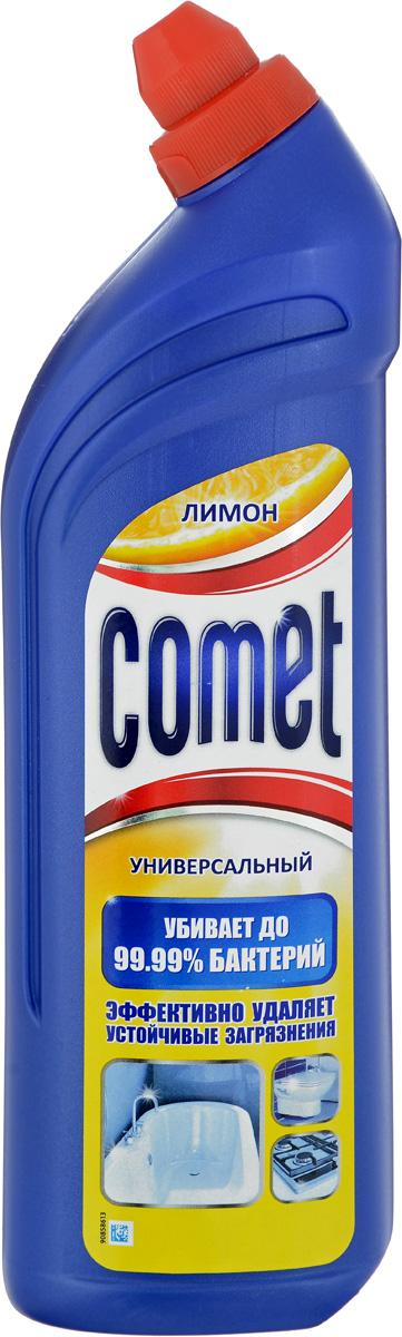 Универсальный чистящий гель Comet Двойной эффект, с ароматом лимона, 1 лCG-80227825;CG-80227825Универсальный чистящий гель Comet Двойной эффект предназначен для глубокого очищения поверхностей. Эффективно удаляет повседневные загрязнения и обычный жир во всем доме, а также дезинфицирует поверхности. Средство подходит для плит (в том числе стеклокерамических), ванн, раковин, унитазов, кафеля, мытья полов. Обладает приятным ароматом лимона. Характеристики:Состав: Объем: 1 л. Товар сертифицирован.Как выбрать качественную бытовую химию, безопасную для природы и людей. Статья OZON Гид