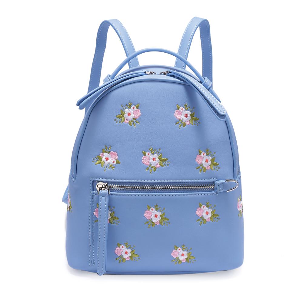 Рюкзак женский OrsOro, цвет: голубой, 23 x 24 x 12 см. DS-833/3