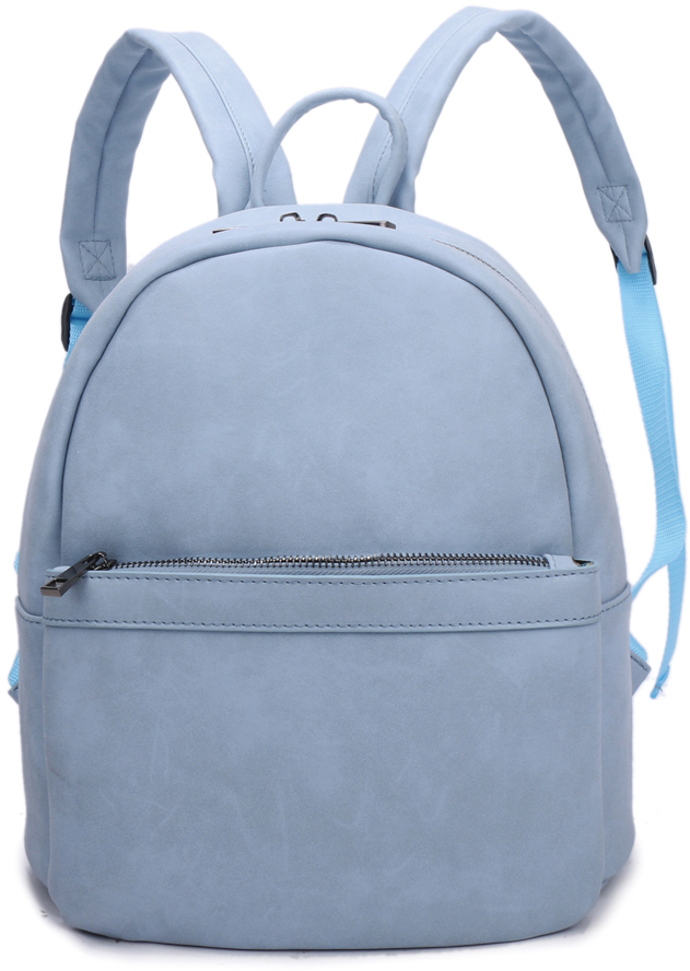 Рюкзак женский OrsOro, цвет: голубой, 27 x 30 x 15 см. DS-836/4
