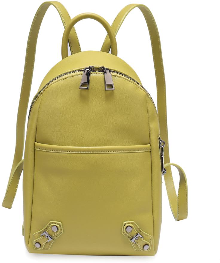 Рюкзак женский OrsOro, цвет: желтый, 18 x 33 x 10 см. DS-829/3