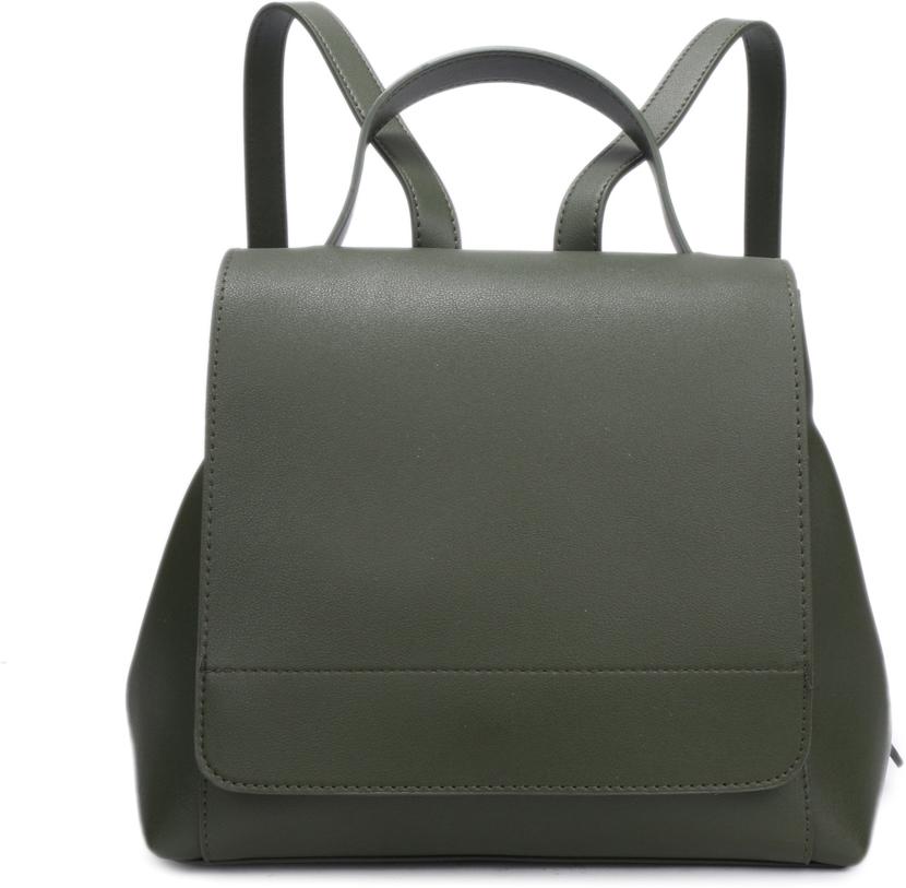 Рюкзак женский OrsOro, цвет: зеленый, 26 x 23 x 13 см. DS-834/1