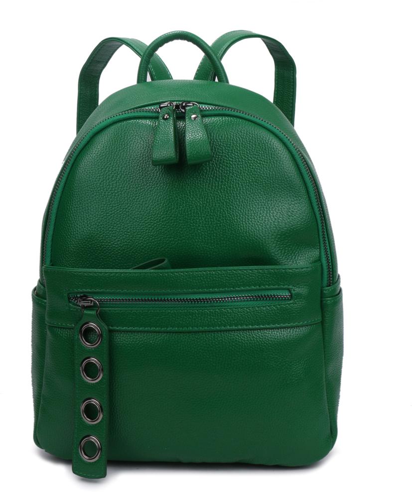 Рюкзак женский OrsOro, цвет: зеленый, 26 x 34 x 14 см. DS-837/3 ботинки детские reima цвет черный 5693689990 размер 26