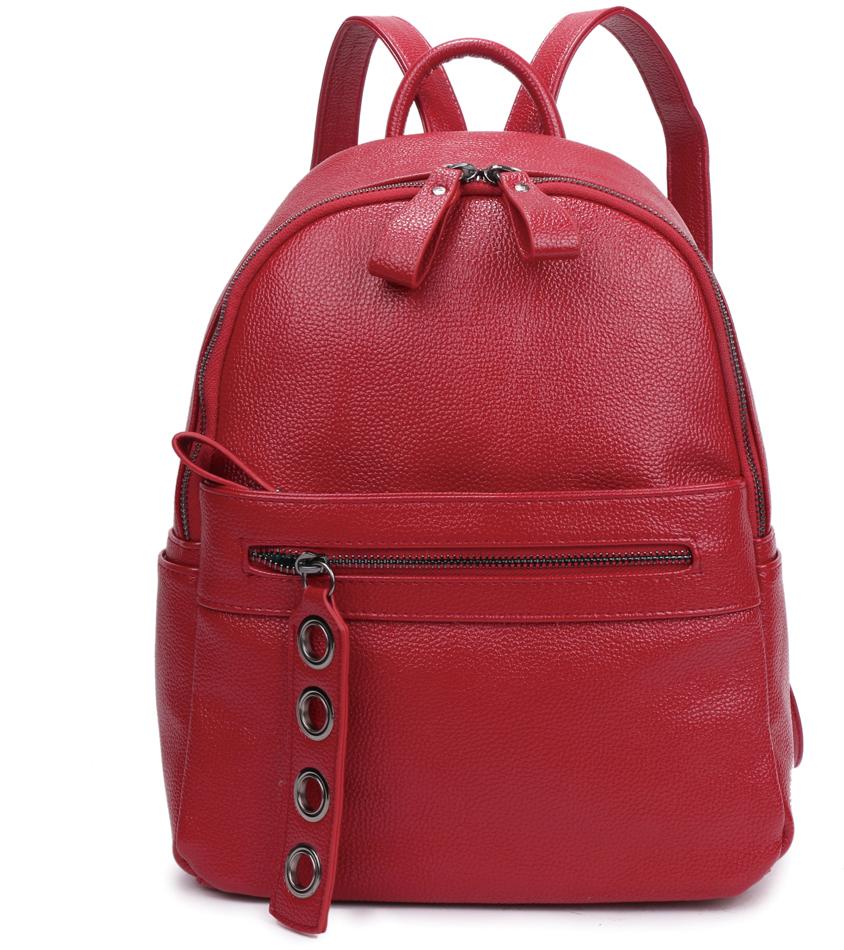 Рюкзак женский OrsOro, цвет: красный, 26 x 34 x 14 см. DS-837/2