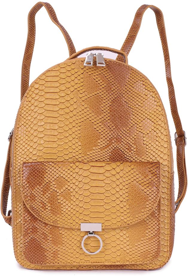Рюкзак женский OrsOro, цвет: оранжевый, 23 x 32 x 12 см. DS-831/3