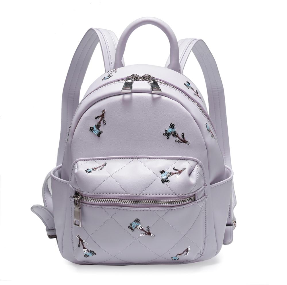 Рюкзак женский OrsOro, цвет: розовый, 19 x 25 x 11 см. DS-828/3