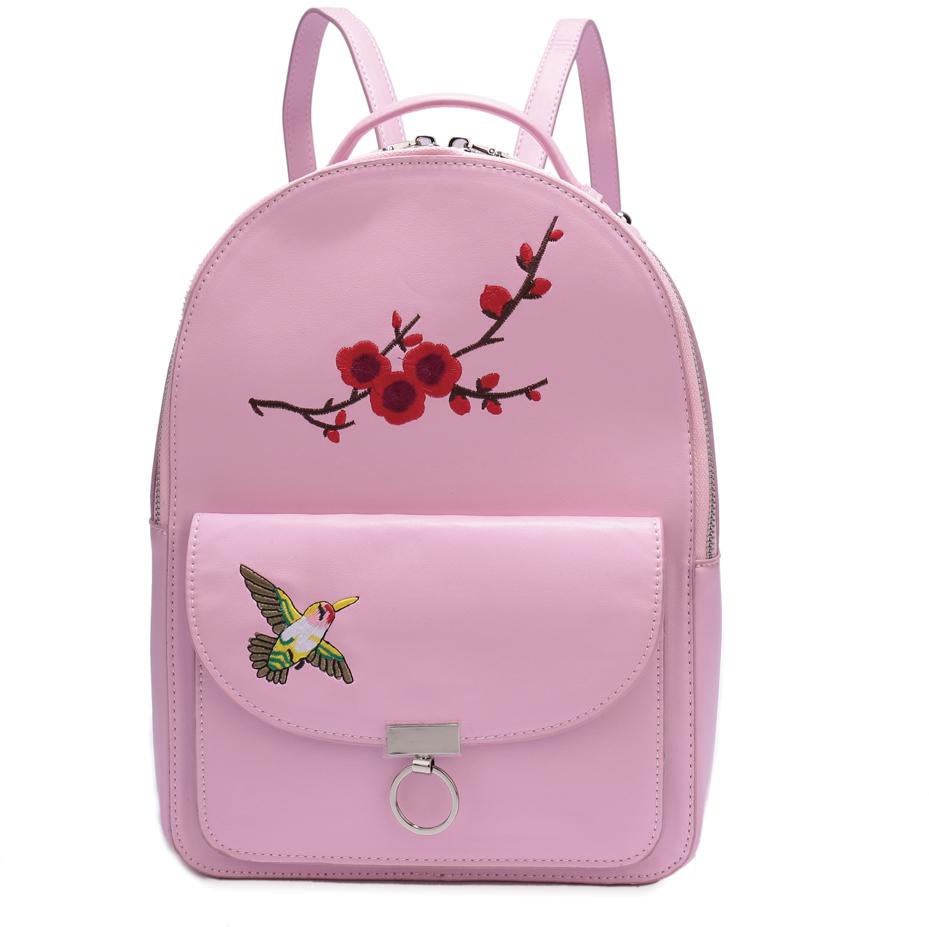 Рюкзак женский OrsOro, цвет: розовый, 23 x 32 x 12 см. DS-830/3 цена и фото