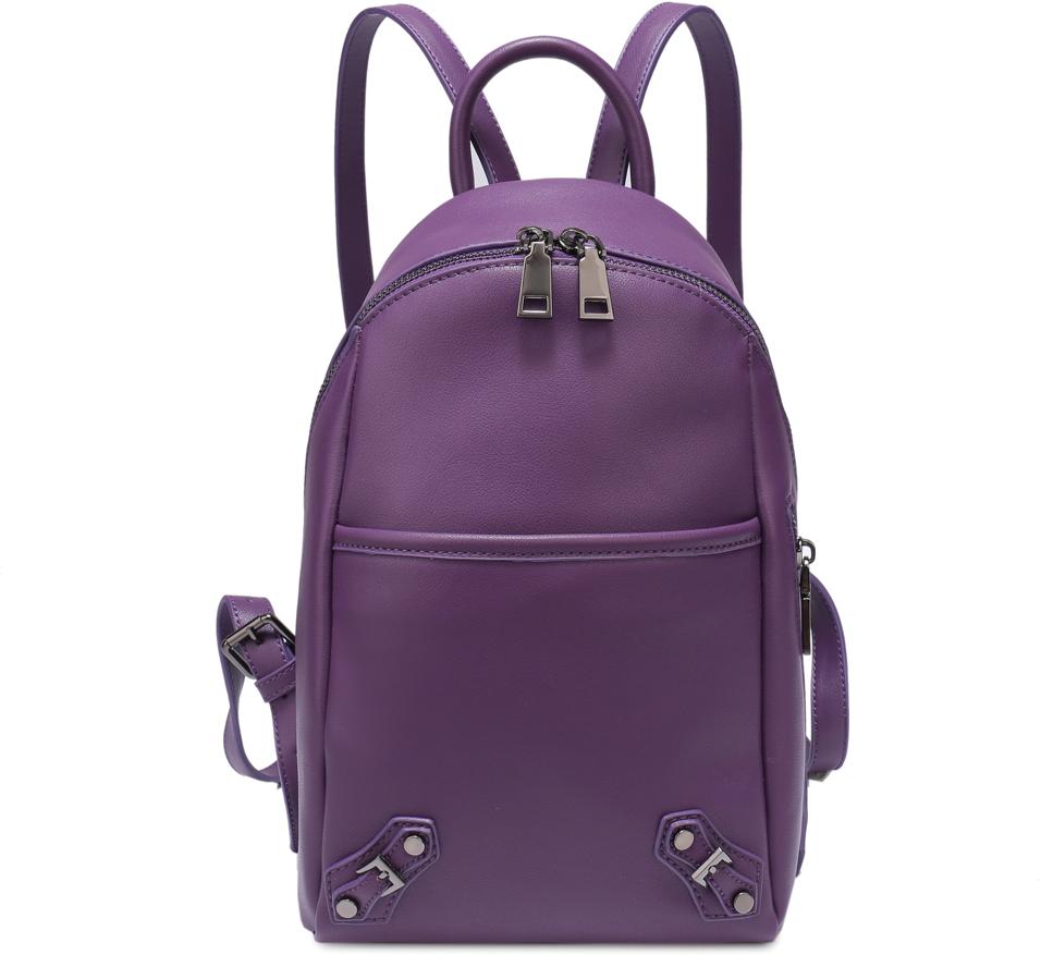 Рюкзак женский OrsOro, цвет: фиолетовый, 18 x 33 x 10 см. DS-829/2DS-829/2Рюкзак с одним отделением на молнии имеет внутренний карман на молнии, внутренний карман для телефона, карман на кнопке на передней стенке и карман на молнии на задней стенке.