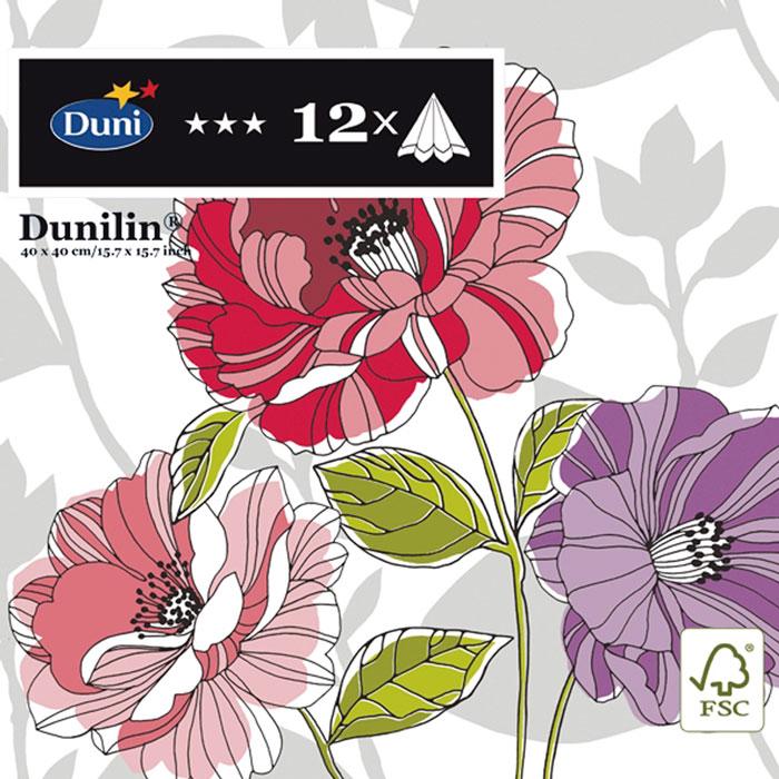 Салфетки бумажные Duni Lin Soft, цвет: бежевый, 40 см салфетки duni салфетки duni комплект 6 шт 3 сл 33 см let it snow