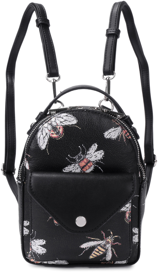 Рюкзак женский OrsOro, цвет: черный, 15 x 20 x 8 см. DS-827/3 orsoro ds 871 1 black